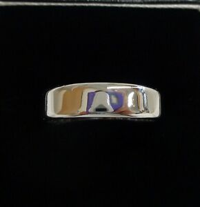 SOLID Flat Wedding Band 750 (18ct) White Gold - Quality! - Size P (US 7.5)