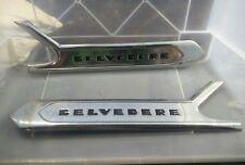 1956 56 plymouth belvedere side trim front door moulding MOPAR chrome 1694338