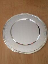 "Godinger 13"" Silver Charger Plates (Set Of 10) Wedding Gift NEW"
