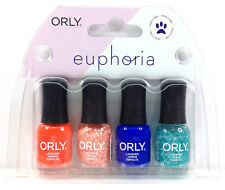 Orly Nail Lacquer - EUPHORIA - MINI Pack of 4 Colors x 0.18oz/5.3ml