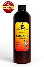 AUSTRALIAN EMU OIL ORGANIC TRIPLE REFINED by H&B Oils Center 100% PURE 12 OZ