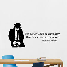 Michael Jackson Quote Wall Vinyl Decal Music Sticker Poster Decor Mural 65sss