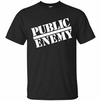 Public Enemy Logo T-shirt 2019 TREND Hip Hop Band Men-Women Black Tee S-3XL