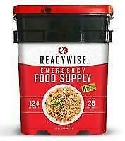 Freeze Dried Food Bucket MRE ReadyWise 124 Servings  Ready Wise Company EXP 2045