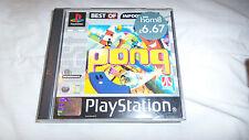 PS1 juego Pong (lo Mejor De en Infogrames) (disco limpia)