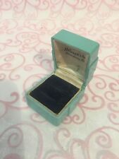 VERY RARE---BEAUTIFUL VINTAGE 1950's Retro Aqua CELLULOID & VELVET RING BOX-