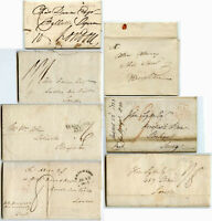 GB 1802-1830 PROVINCIAL POST MILEAGE MARKS + LETTERS