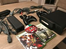 Microsoft Xbox 360 Elite Bundle 120GB Matte Black Console Adult Owned Headset