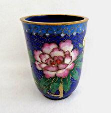 Chinese Cloisonne Enamel Sake Cup / Cigarette Holder