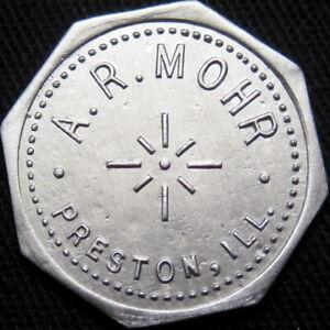 1934 Preston Illinois Good For Token A R Mohr Rare Unlisted Town