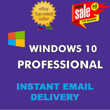 WINDOWS 10 PRO PROFESSIONAL GENUINE LICENSE KEY .🔑 INSTANT DELIVERY.,.,.