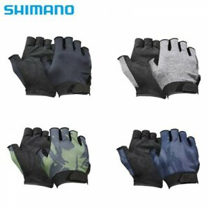 SHIMANO GL-012T Fingerless Fishing Gloves Natural Gloves 5 Japan with Tracking
