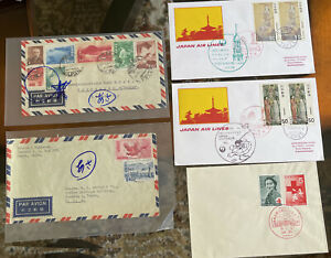 Japan Stamp FDC and Envelopes (x5)