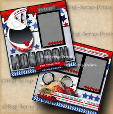 DISNEY MONORAIL ~  2 premade scrapbook pages paper piecing layout ~ BY DIGISCRAP