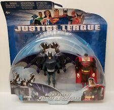 Night Flight Batman and Superman 2003 Justice League 2 Pack Mattel New on Card