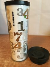 Starbucks Tumbler Travel Plastic Cup Mug Coffee Day 2011 Promotion Numbers RARE!