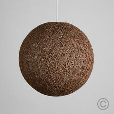 Modern 20cm Coffee Rattan Wicker Ball Ceiling Light Pendant Shade Lampshade Home