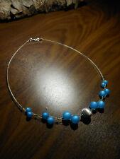 Neu blau Polariskette Silberperle Halskette Polaris perlen kette Perlenkette