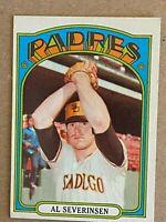 Topps 1972 #274 Al Severinsen - San Diego Padres
