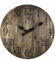 "FirsTime & Co. Rustic Barnwood Wall Clock, 24"", Weathered Barn Wood Farmhouse"