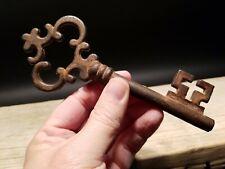 """6 1/2"""" Antique Style Iron Large Skeleton Church Key"""