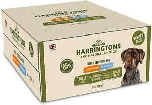 Harringtons Dog Grain Free Wet Mixed Food Chicken Duck Pack 24 Trays x 150g NEW