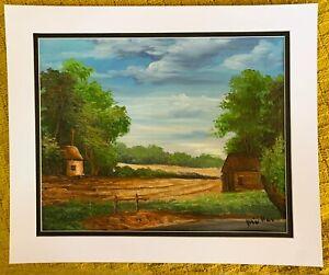 Vintage original oil painting signed Müller landscape