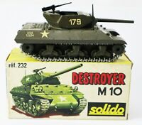 Vintage Solido Diecast Military USA Army Tank DESTROYER M10 WII Made France 232
