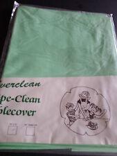 """Everclean Wipe Clean PVC Tablecloth  54"""" X 70"""" Plain Green."""