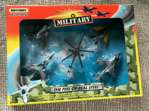 MATCHBOX MILITARY DIE CAST METAL BOX SET FEEL OF REAL STEEL PLANES HELICOPTER