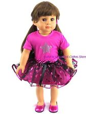 Metallic Star Studded Skirt Set 18 in Doll Clothes Fits American Girl