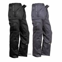 Workwear Action Trousers Knee Pads Pockets Multiple Zip Pockets Pants 26''-58''