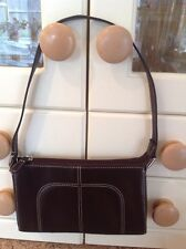LOVELY MARKS & SPENCER SMALL BROWN LEATHER SHOULDER BAG USED BARELY
