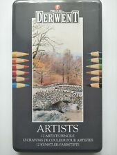 REXEL DERWENT 12 artists pencils in tin opened unusedMade in Great Britain