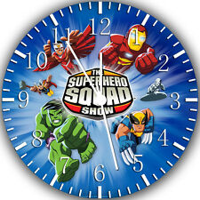 """Super Hero Squad wall Clock 10"""" will be nice Gift and Room wall Decor W257"""