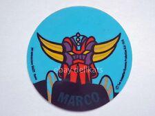 ADESIVO Sticker card vintage UFO ROBOT GOLDRAKE 1978 nome MARCO