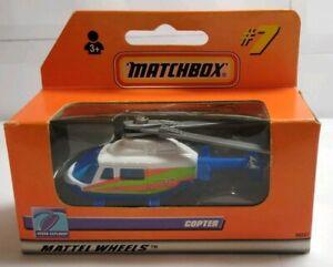 MATCHBOX #7 MATTEL WHEELS 1999 OCEAN EXPLORER COPTER - 96047 - FACTORY SEALED