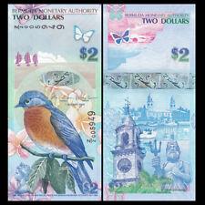 Bermuda 2 Dollars, 2009(2012), P-57b, Z/2 prefix, Replacement, Bird, UNC