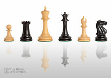 "USCF Sales The Leeds Luxury Chess Set - Pieces Only - 3.75"" King - Genuine Ebony"