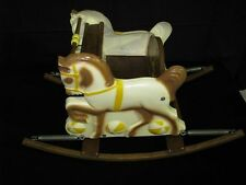 1960's Delphos Bending Company Childrens Wooden Rocking Horse Amazing Condition