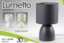 LAMPADA H30 CM DA TAVOLO COMODINO LUMETTO ABAT JOUR CERAMICA COLOR ORY 651168