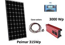 Kit Solare Fotovoltaico 3 KW Pannello 315W regolatore 30A MPPT inverter 3000W