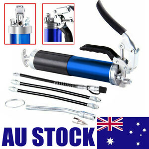Blue Grease Gun Pistol Grip Dual Flow Pressure 6000psi Industrial Quality Tool
