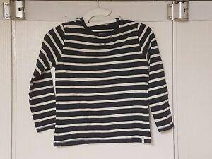 t-shirt manches longues marque kiabi taille 8 ans couleur bleu marine  rayure bl