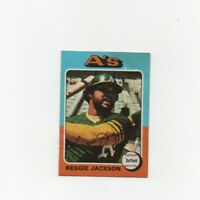 1975 Topps Reggie Jackson Baseball Card #300 Oakland Athletics HOF