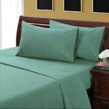 King Size Teal Solid 4 Piece Sheet Set 1000 Thread Count 100% Egyptian Cotton