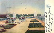 1909 Electric Park Amusement Rides, Kansas City, Missouri Postcard