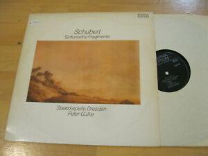 LP Schubert Sinfonische Fragmente Peter Gülke Vinyl Eterna DDR 8 27 394