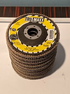 Lot of 10 -TRU-MAXX 25244 FLAP DISC 4-1/2X7/8 T29 HIGH PERFORMANCE STAINLESS