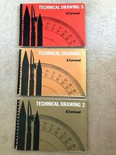 RARE Technical Drawing Books book 1 2 and 3 architecture degree A.Yarwood